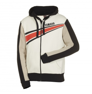 SWEAT ZIPPE YAMAHA REVS BLANC
