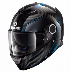 CASQUE SHARK SPARTAN CARBON SILICIUM BLUE/ANTHRACITE