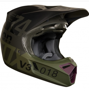 CASQUE FOX V3 DRAFTR 2018 CHAR