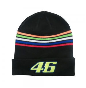 BONNET VR46 ROSSI STRIPES NOIR ADULTE 2018