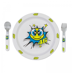 SET REPAS BEBE VR46 2019 POP ART BLANC planet-racing.fr