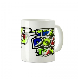 MUG VR46 POP ART BLANC 2019 planet-racing.fr