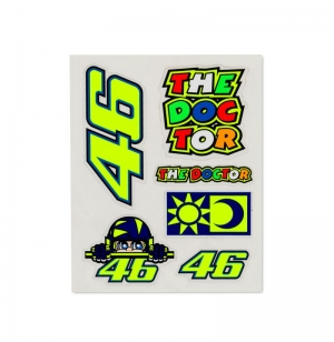 PETITE PLANCHE STICKERS VR46 ROSSI 2019 MULTICOLOR planet-racing.fr