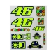 GRANDE PLANCHE STICKERS VR46 2019 MULTICOLOR planet-racing.fr