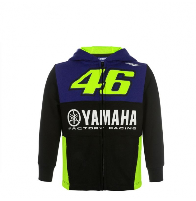 SWEAT ZIPPE YAMAHA RACING VR46 2019 ENFANT planet-racing.fr