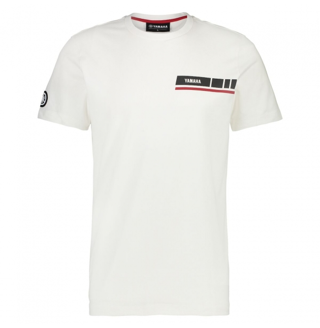 T-SHIRT YAMAHA REVS BLANC HOMME 2019 planet-racing.fr
