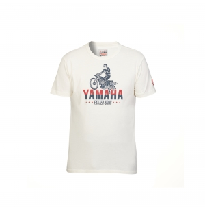 T-SHIRT YAMAHA FASTER SONS HOMME ABBOT CREME planet-racing.fr