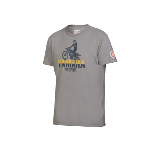 T-SHIRT YAMAHA FASTER SONS HOMME ABBOT GRIS planet-racing.fr