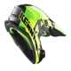CASQUE KENNY TRACK GREEN YELLOW