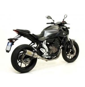 SILENCIEUX ARROW STREET THUNDER EMBOUT CARBONE YAMAHA MT07 / TRACER 700