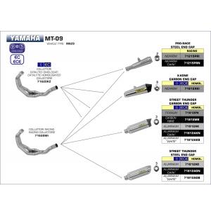 COLLECTEUR ARROW POUR SILENCIEUX MT09 / TRACER 900 / XSR 900