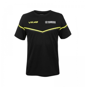 T-SHIRT YAMAHA RACING NOIR VR46