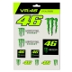PLANCHE DE STICKERS MONSTER YAMAHA VR46 2020