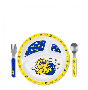 SET ASSIETTE COUVERTS BEBE SUN & MOON VR46 2020