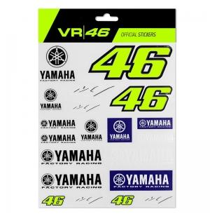 GRANDE PLANCHE DE STICKERS YAMAHA RACING VR46 2020