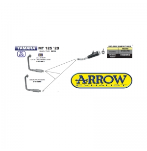 SILENCIEUX ARROW PRO-RACE MT-125 2020 -