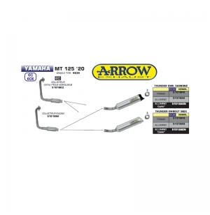 SILENCIEUX ARROW THUNDER MT-125 2020 -