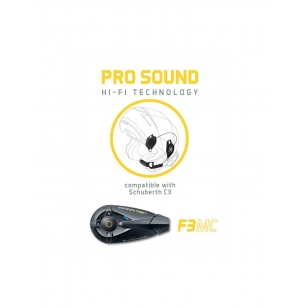INTERCOM F3-MC SINGLE + PRO SOUND SCHUBERTH