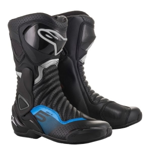 BOTTES ALPINESTARS SMX-6 V2 BLACK / GUN METAL / BLUE