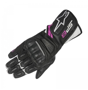 GANTS ALPINESTARS STELLA SP-8 V2 BLACK / WHITE / FUSHIA