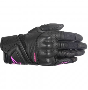 GANTS ALPINESTARS STELLA BAIKA LEATHER GLOVE BLACK / FUSHIA