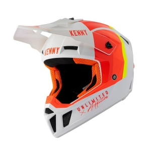 CASQUE KENNY PERFORMANCE WHITE RED ORANGE 2021