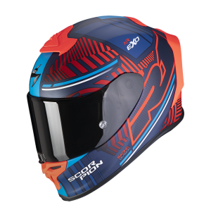 SCORPION EXO R1 AIR VICTORY BLEU MAT ROUGE