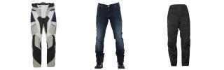 Pantalon textile et jeans